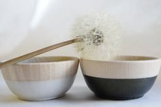 Wooden+Mini+Bowl+Set+of+Two+Black+and+White+by+WindandWillowHome,+$18.00