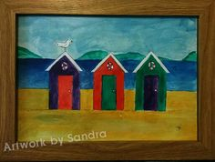 Beach hut original painting £25 + postage unframed Art Paintings For Sale, Original Paintings, The Originals, Beach, Artwork, Work Of Art, Seaside