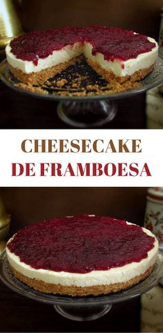 A delicious raspberry cheesecake dessert for a special occasion. Cheesecake Desserts, Raspberry Cheesecake, Cheesecakes, Candy Cakes, Portuguese Recipes, Savoury Cake, Clean Eating Snacks, Sweet Recipes, Bakery