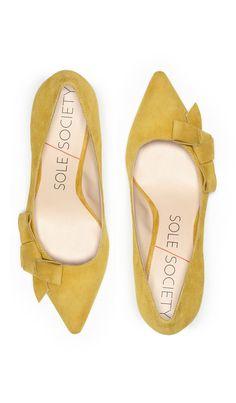 Mustard Bow Heels