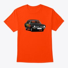 Pimped black classic car from England, the Morris Marina sedan cornering to your heart. Cool gift idea for old vintage car lovers. Morris Marina, Old Vintage Cars, Car Illustration, Classic Cars, England, Lovers, Cool Stuff, Heart, Gift