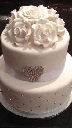 Wedding cake, simple but elegant! by jodi #smallweddingcakessimple