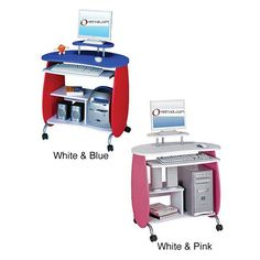 Brighten up your home with this kids ergonomic computer desk. Available in two brilliant color options and featuring heavy-duty steel legs, this desk is eye-catching and sturdy. A space-saving design will keep your kids workspace clutter-free.