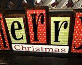 Christmas wood blocks- Merry Christmas blocks