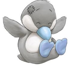 Carte Blanche - My Blue Nose Friends - Quiver the Emperor Penguin Tatty Teddy, Teddy Bear, Cute Images, Cute Pictures, Pinguin Tattoo, Baby Animals, Cute Animals, Blue Nose Friends, Cute Clipart
