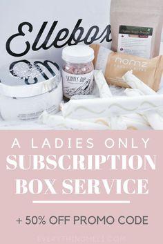 This is the perfect ladies only subscription box! Completely all organic, useful and ready for that time of the month! @ElleBox