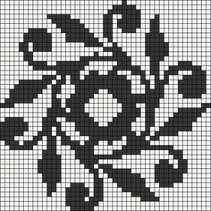 Alpha friendship bracelet pattern added by mandala traditional flowers floral. Cross Stitch Borders, Cross Stitch Charts, Cross Stitching, Cross Stitch Embroidery, Cross Stitch Patterns, Minecraft Pattern, Pixel Pattern, Filet Crochet Charts, Knitting Charts