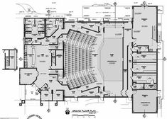 Floor Plans Of the relationships between rooms Floor plan interior design software Ft Kitchen X 40 ft Bathroom Bedroom Home Office or classroom Auditorium Design, Auditorium Plan, Auditorium Architecture, Theatre Architecture, School Architecture, Architecture Plan, Architecture Details, Building Plans, Building Design
