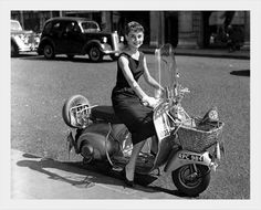 #ridecolorfully  The queen of the Vespa!