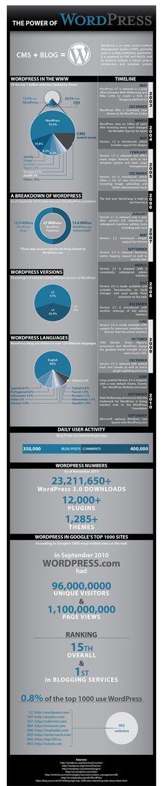 The power of Wordpress #infographic