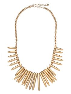 Our Gold Bullet Bib...  inspired by native African styles just done in cool bullet-like pendants.