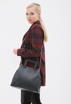 Faux Leather Satchel | Forever 21 - 1000135470