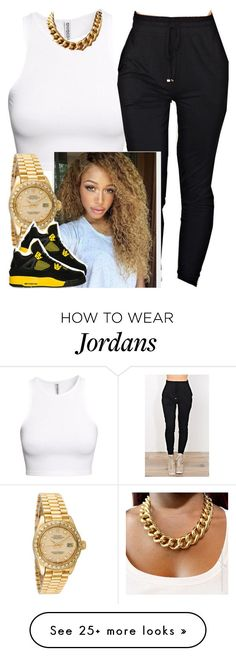 """✨"" by newtrillvibes on Polyvore featuring H&M, Rolex, women's clothing, women, female, woman, misses and juniors"