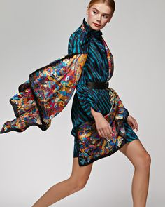 "Silk scarf ""Kandinsky"" Шелковый платок «Кандинский» Silk Scarves, Russia, Beauty, Beauty Illustration"