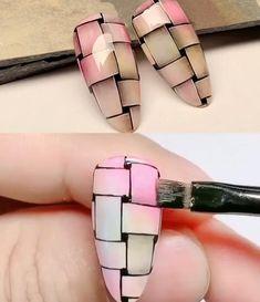 Cat Nail Art, Nail Art Diy, Nail Art Designs Videos, Nail Art Videos, Classy Nails, Stylish Nails, Cute Acrylic Nails, Gel Nails, New Nail Art Design