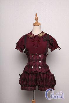 Citanul -A Mad Tea Party- Ouji Lolita Corset and Short Pants Set Estilo Lolita, Real Costumes, Lolita Fashion, Fashion Fashion, Gothic Lolita, Costume Design, Tea Party, Corset, Cool Outfits