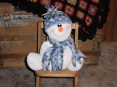 Perfect snowman, he doesn't melt!  Made of white fleece.
