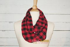 These infinity scarves are so great! An infinity scarf is a scarf that is one long loop! Our infinity scarves are professionally serged, and sewn with no raw edges showing for a very nice finished look! Great for gift giving, for that hard to buy friend or family member. Flannel makes