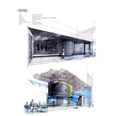 Drawing Interior, Interior Rendering, Interior Sketch, Architecture Student, Architecture Drawings, Architecture Design, Sketch Painting, Drawing Sketches, Drawing Style