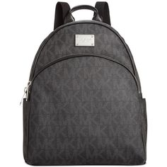 MICHAEL Michael Kors Signature Large Backpack ($298) ❤ liked on Polyvore featuring bags, backpacks, print bags, pattern backpack, michael kors bags, pattern bag and michael kors backpack