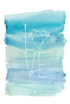 Free Watercolor Love #Printable from #LostBumblebee