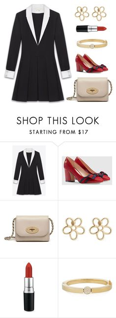 """""""Untitled #2019"""" by claireyim ❤ liked on Polyvore featuring Yves Saint Laurent, Gucci, Mulberry, Marc by Marc Jacobs, MAC Cosmetics and Chloé"""