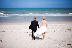 Ocean portraits of the bride and groom | Kate Saler Photography: Rob & Becca's Indialantic Florida Wedding | www.katesalerphotography.com Michigan Destination Photographer