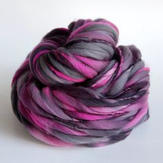 88 Yards Handspun Thick and Thin Slub Yarn - 3.6 Ounces / 99 Grams - FREE SHIPPING in the US