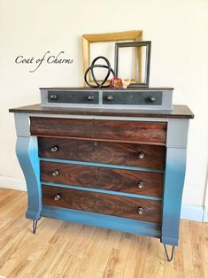 Onyx Water Based Wood Stained Ombre Dresser | General Finishes Design Center Custom Furniture, Painted Furniture, Furniture Design, Water Based Wood Stain, Paint Companies, Dixie Belle Paint, General Finishes, Home Look, Color Inspiration