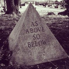 """As above, so below."" These words circulate throughout occult and magical circles. They are recorded in Hermetic texts, although they originated in the Vedas.""That which is Below corresponds to that which is Above, and that which is Above corresponds to that which is Below, to accomplish the miracle of the One Thing."" Thus, whatever happens on any level of reality (physical, emotional, or mental) also happens on every other level."