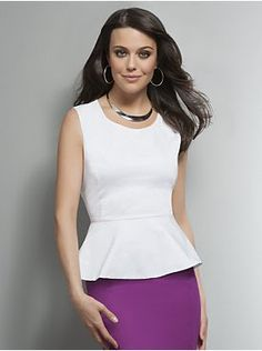 White peplum top - wear with anything.