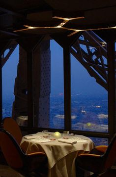 LE JULES VERNE at the Eiffel Tower  Paris, FRANCE - No description needed here. Simply the ultimate in romance! A Michelin-starred restaurant. - 33 1 45 55 61 44 - http://www.lejulesverne-paris.com