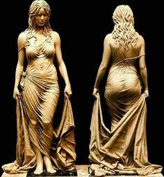 The detail of this statue by Benjamin Victor Bathsheba. Outdoor Sculpture, Stone Sculpture, Wow Art, Art Plastique, Erotic Art, Unique Art, Female Art, Amazing Art, Sculpting