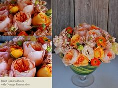 Orange, Peach and touch of green