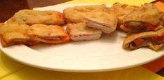 Libritos de lomo de sobrasada y queso, de jamón y queso y de escalivada