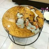 Resin table for home and garden Resin Patio Furniture, Backyard Furniture, Unique Furniture, Cheap Furniture, Wood Furniture, Discount Furniture, Furniture Outlet, Resin Crafts, Resin Art