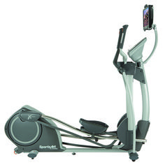 The SportsArt Fitness E825 Elliptical has workout programs for everyone with 20 levels of resistence. The display feedback options show you your workout level, heart rate, stride length, calories burned and much more. Stride length can be adjusted with buttons on the handle bars. See below for additional details.