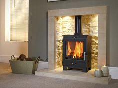 Buy Flavel Arundel Multifuel Wood Burning Stove securely online today at a great price. Flavel Arundel Multifuel Wood Burning Stove available today at Fireplace And . Home Living Room, Room Design, House, Home, Inglenook Fireplace, Fireplace Design, New Homes, Log Burner Living Room, Fireplace