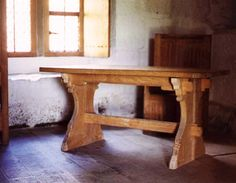 Table in the monk's cell at Mt. Grace