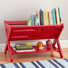 The Land of Nod | Kids Bookcase: Lime Steel Wire Bookcase in Bookcases