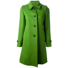 LODENTAL 'Loden' overcoat ($944) ❤ liked on Polyvore featuring outerwear, coats, jackets, coats & jackets, green coat, long sleeve coat, over coat and loden coat