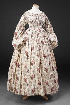 "historicaldress:  ""Dress  Date: Late 1830s  John Bright Collection  """