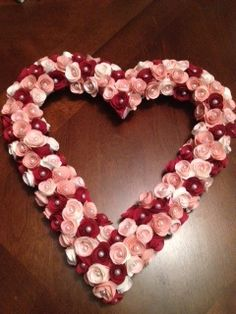 Valentine's Wreath - tutorial included