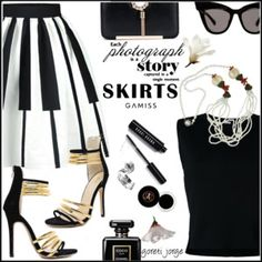 Skirts  - Black and White