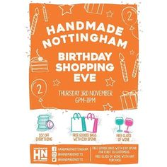 regram @handmadenotts Our newsletter has been sent on it's way and it's all about our Birthday! Hope to see you there! #handmadenottingham #secondbirthday #wearetwo #shopnotts #lovenotts #itsinnottingham #shoplocal #buyhandmade