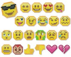Emojis Perler Project Pattern