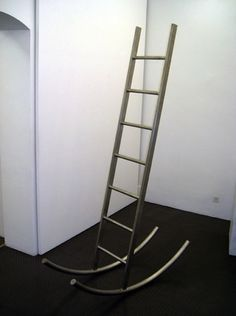 Ladder surfing would have been too easy with this ladder! haha