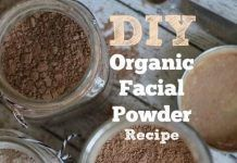 DIY organic facial powder…