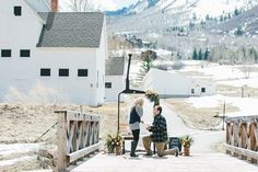 He asked her to marry him on a bridge in Park City, and it was such a surprise. <3