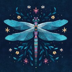 Art And Illustration, Dragonfly Illustration, Dragonfly Drawing, Dragonfly Art, Kunst Inspo, Art Inspo, Fantasy Kunst, Fantasy Art, Wallpaper Kawaii